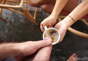 Girlfriend Drinks Piss and Eats Cum! - Compilation