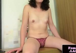 Anal gaping femboy wanking her dick