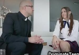 Pastor Spanks Teen Ass with a Bible!