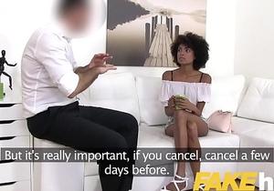 Fake Agent Ebony Brazilian babe Luna Corazon fucked by agent in casting