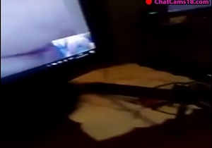 mostrando mis nalgotas por skype