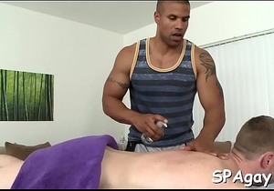 Raucous massage with homosexual fellows