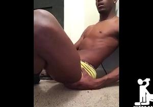 Straight Black Dick Stroking Session - INEEDGAYSEX.com