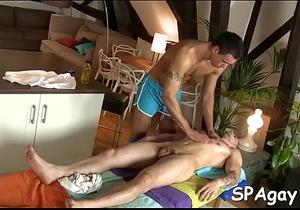 Homosexual exposed massage video
