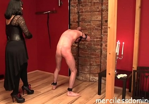 At The Mercy Of Herrin Bestrafung - Mix of whipping, flogging and candle play