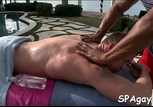 Sexy and wild homosexual oral job