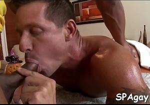 Wanking a lusty homo rod