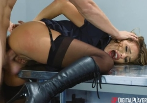 Gorgeous Airport security babe gets brutally fucked